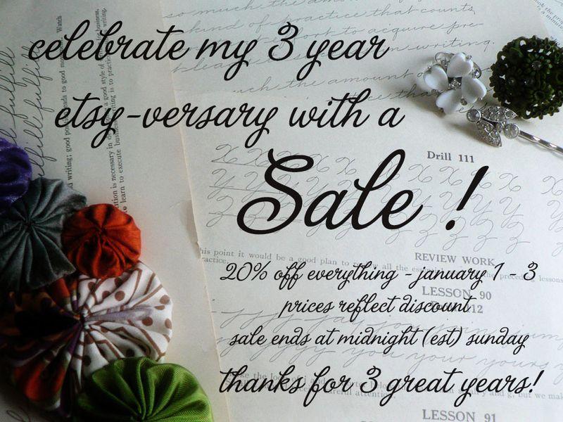 Jan 1-3 sale