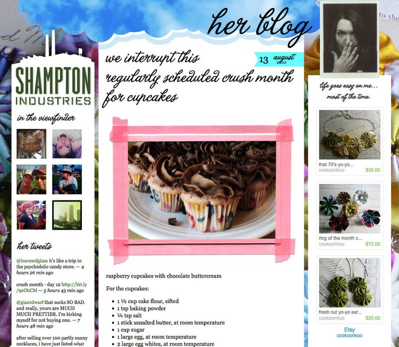 Her blog Shampton Industries